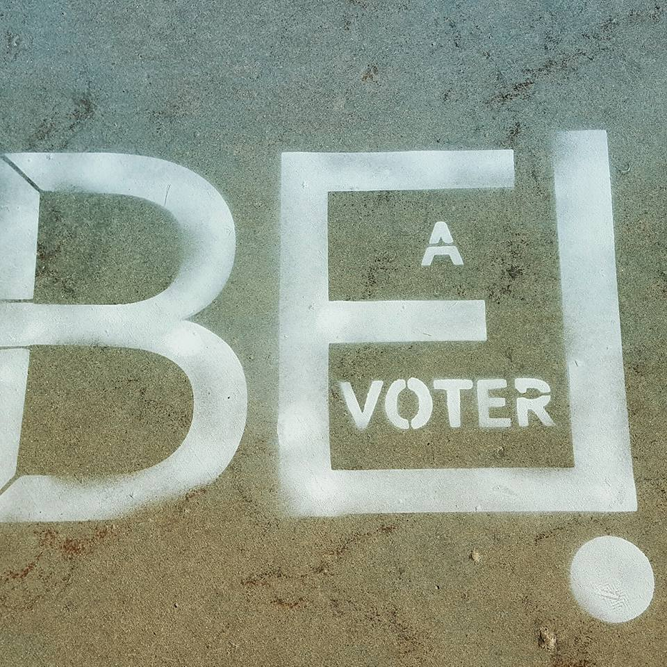 Be a voter graphic