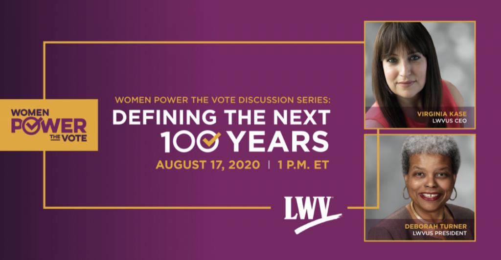 LWV women power the vote event 8/17/2020