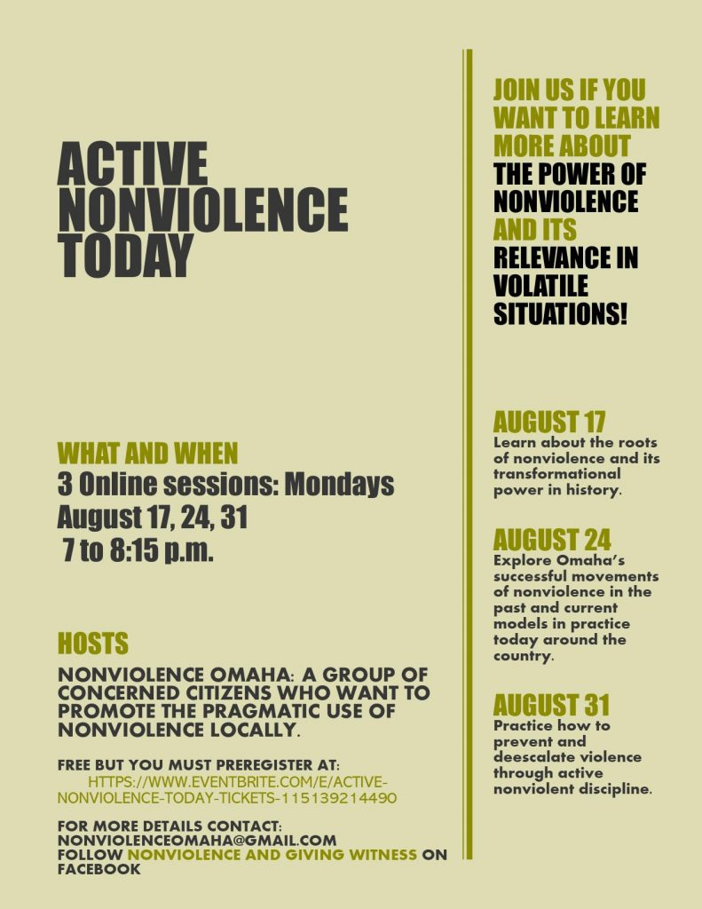 active nonviolence today 8/17/2020 event