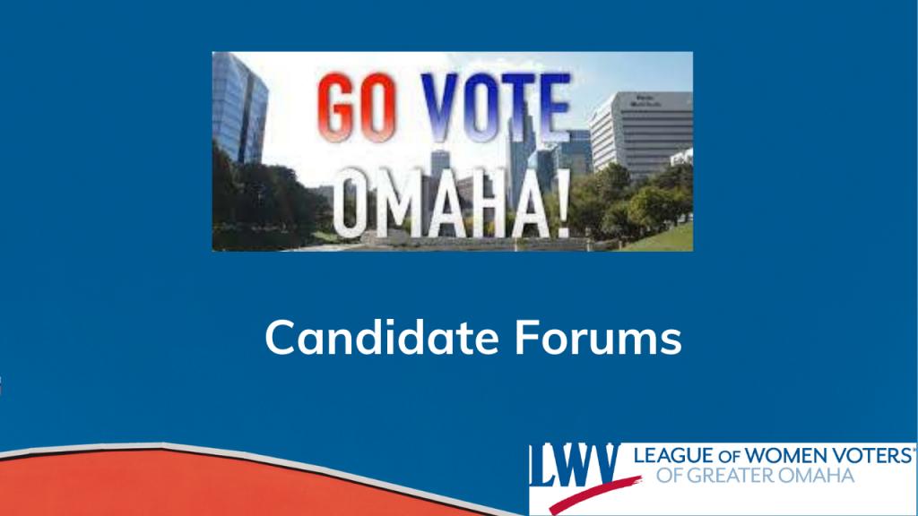 Go Vote Omaha Candidate Forum logo