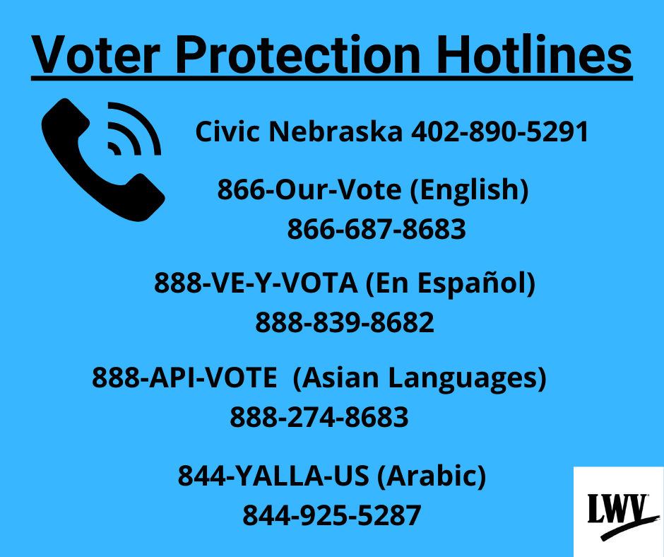 Voter protection hotlines