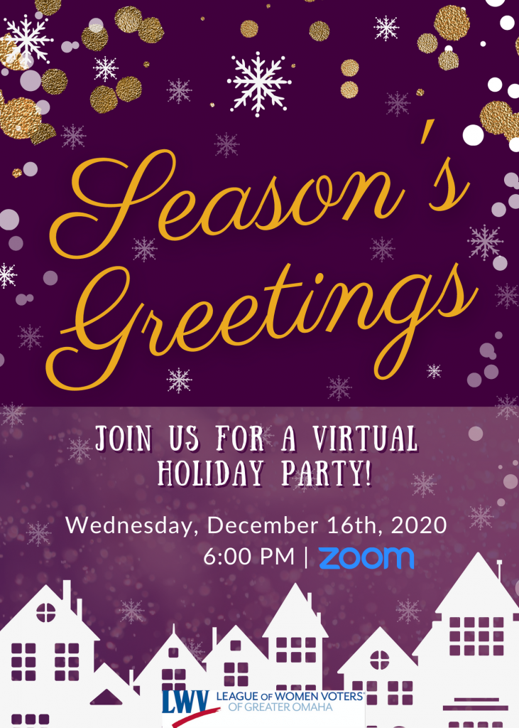 2020 Holiday party flyer