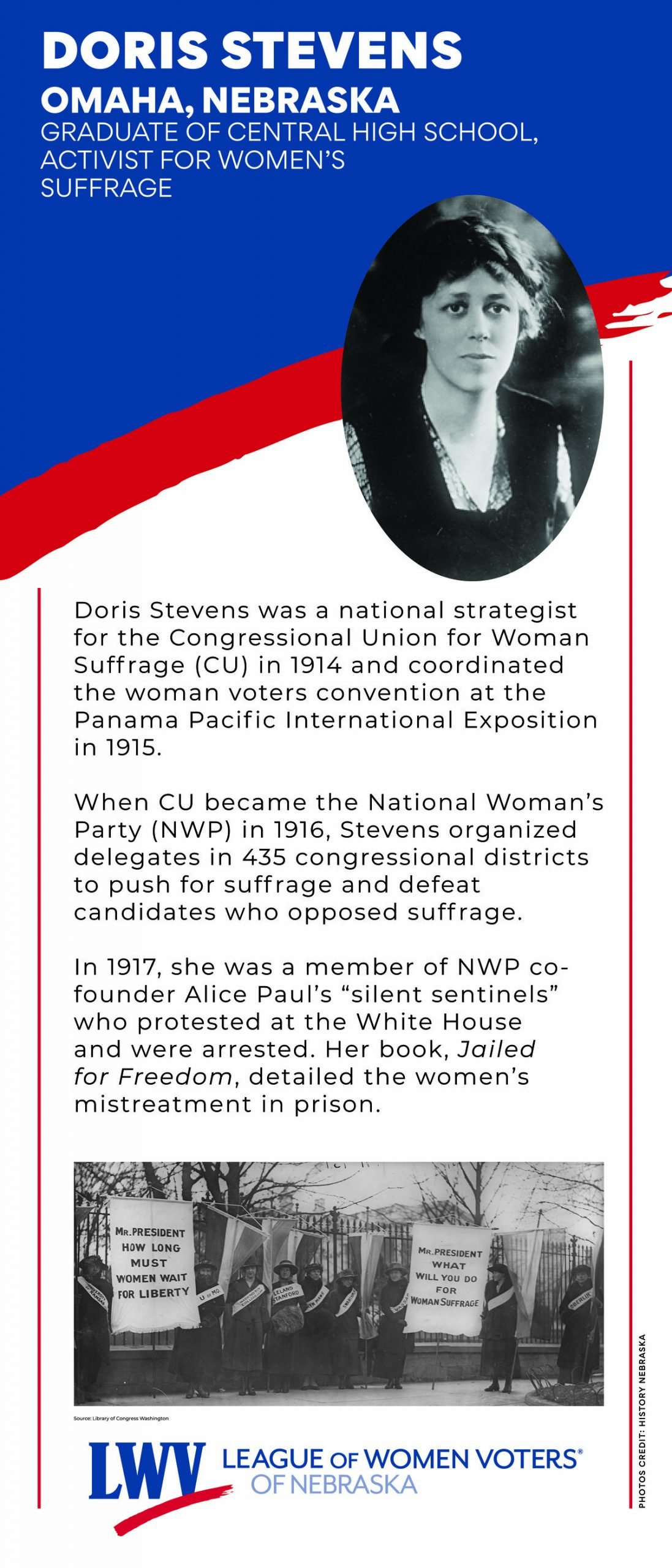 Doris Stevens Informational Graphic