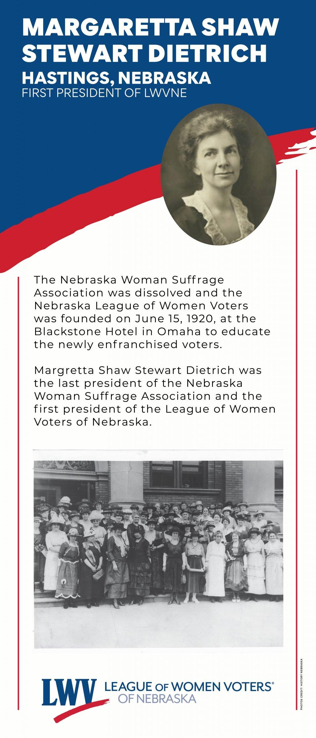 Margaretta Shaw Stewart-Dietrich Informational Graphic