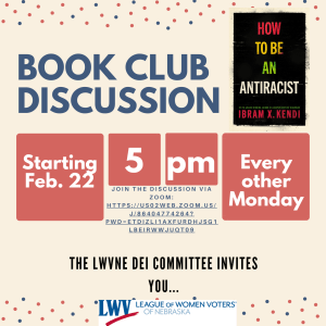 LWVNE Book Discussion Flyer