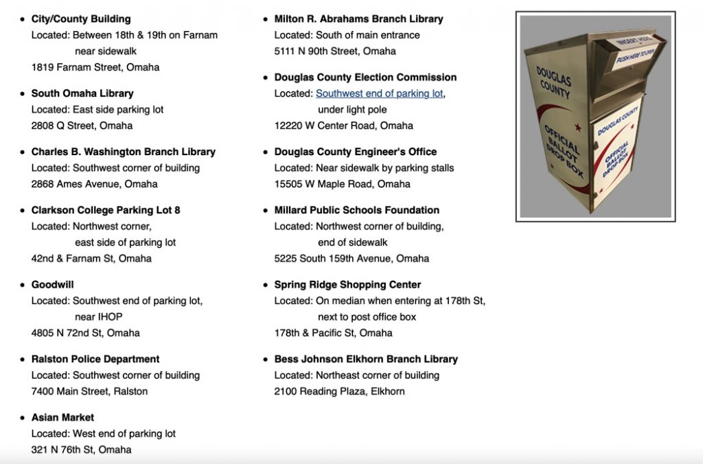 Douglas County Drop Box Locations