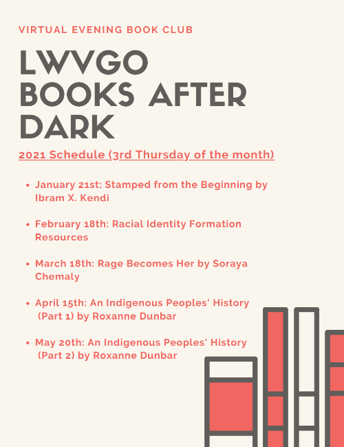 Schedule for Books After Dark Reading Group