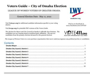 Omaha City General Election Voters Guide photo